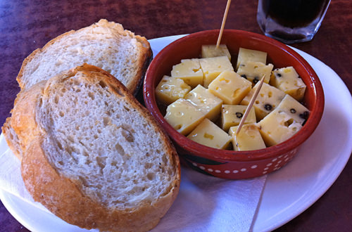 Marinated Pepper Cheese & Bread!
