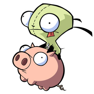 Ride the Pig! From Invader Zim!