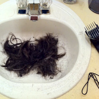 Dave's Hair in the Sink!