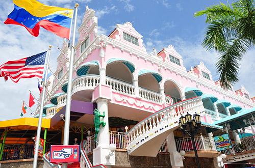 Colorful building in Oranjestad