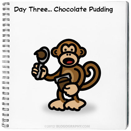 Bad Monkey and Chocolate Pudding