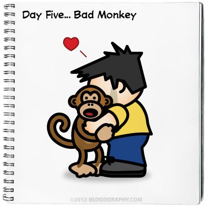 Lil' Dave Hugs Bad Monkey!