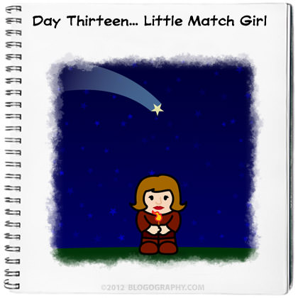 Little Match Girl Under a Falling Star
