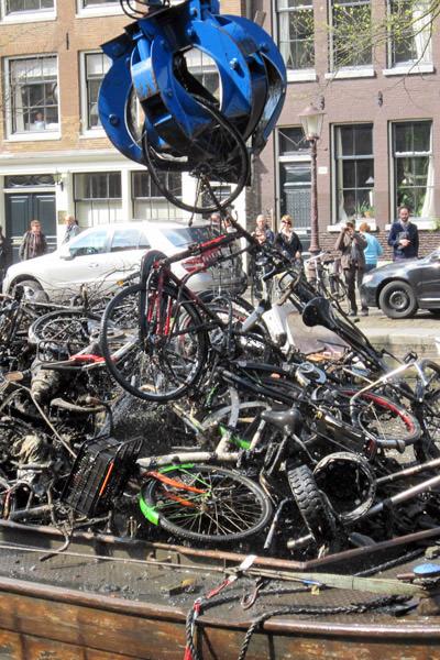 Dredged Bikes Pile