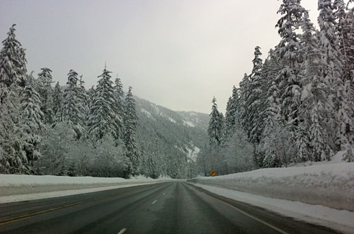 Driving Over Stevens Pass