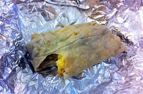 Qdoba Breakfast Burrito, Baby!