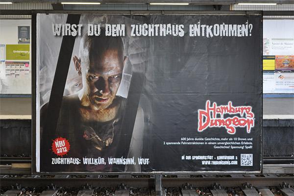 Hamburg Dungeon Poster... NO ENGLISH!