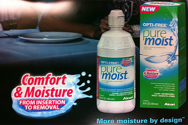 Pure Moist Contact Lens Solution Ad