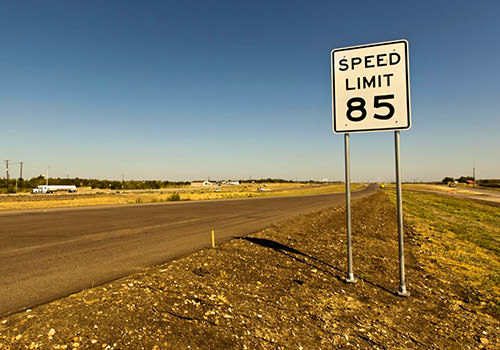 Speed Limit Sign 85 MPH