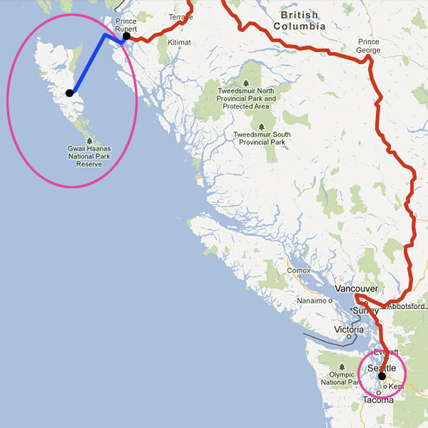 Map To Hadia Gwaii