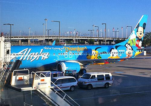 Alaska Airlines' Mickey Plane!
