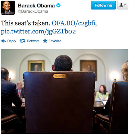 Obama Says: This Seat's Taken