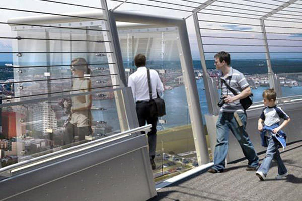 Space Needle Glass Box