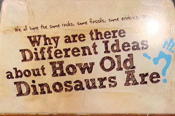 Why are there different ideas about how old dinosaurs are?