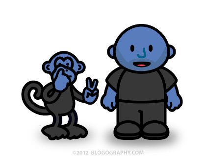 DAVETOON: Lil' Dave and Bad Monkey Blue Men!