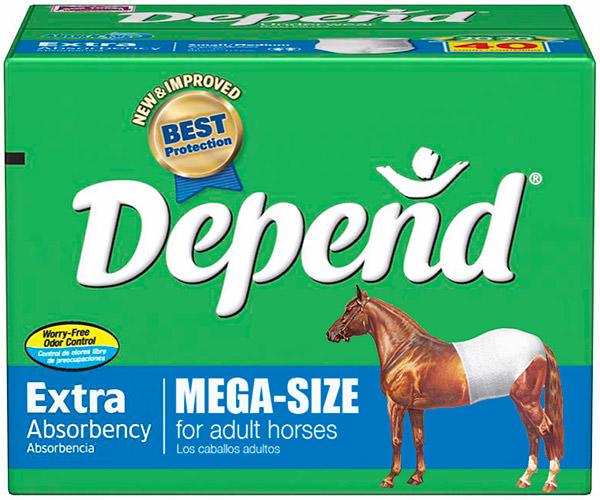 MEGA-SIZE Depend Undergarments for HORSES!