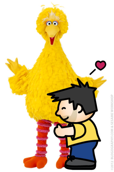 Lil' Dave and Big Bird