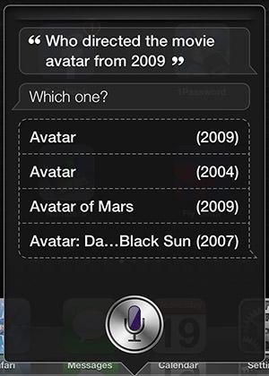 Siri on Avatar