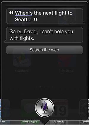 Siri Doesn't Know Flights