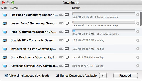 ITunes forced Downloads