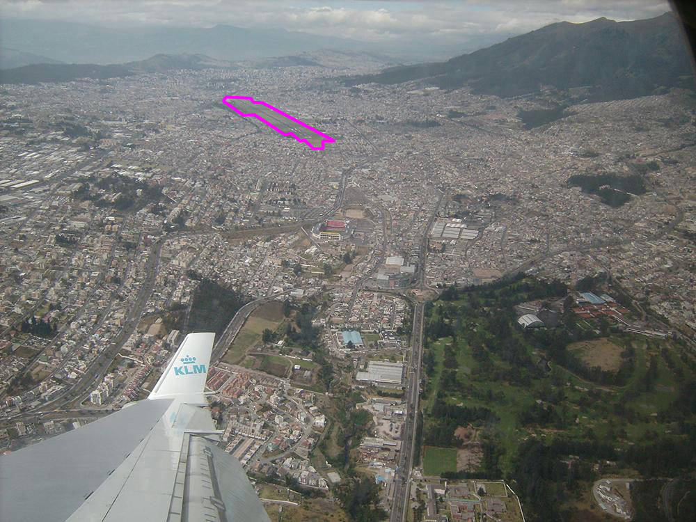 Quito Airport Outlined