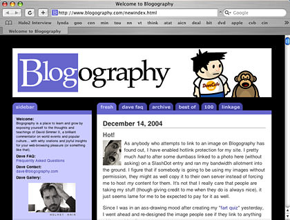 New Blogography