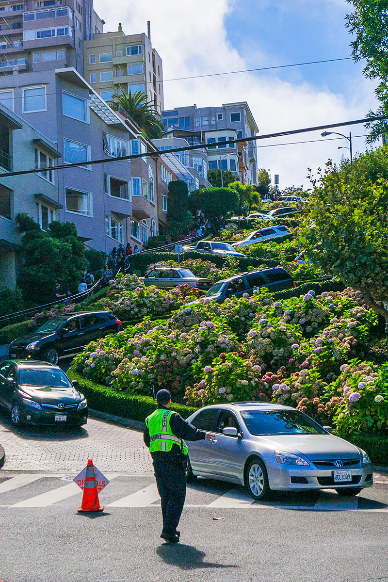 Lombard street Looking Up