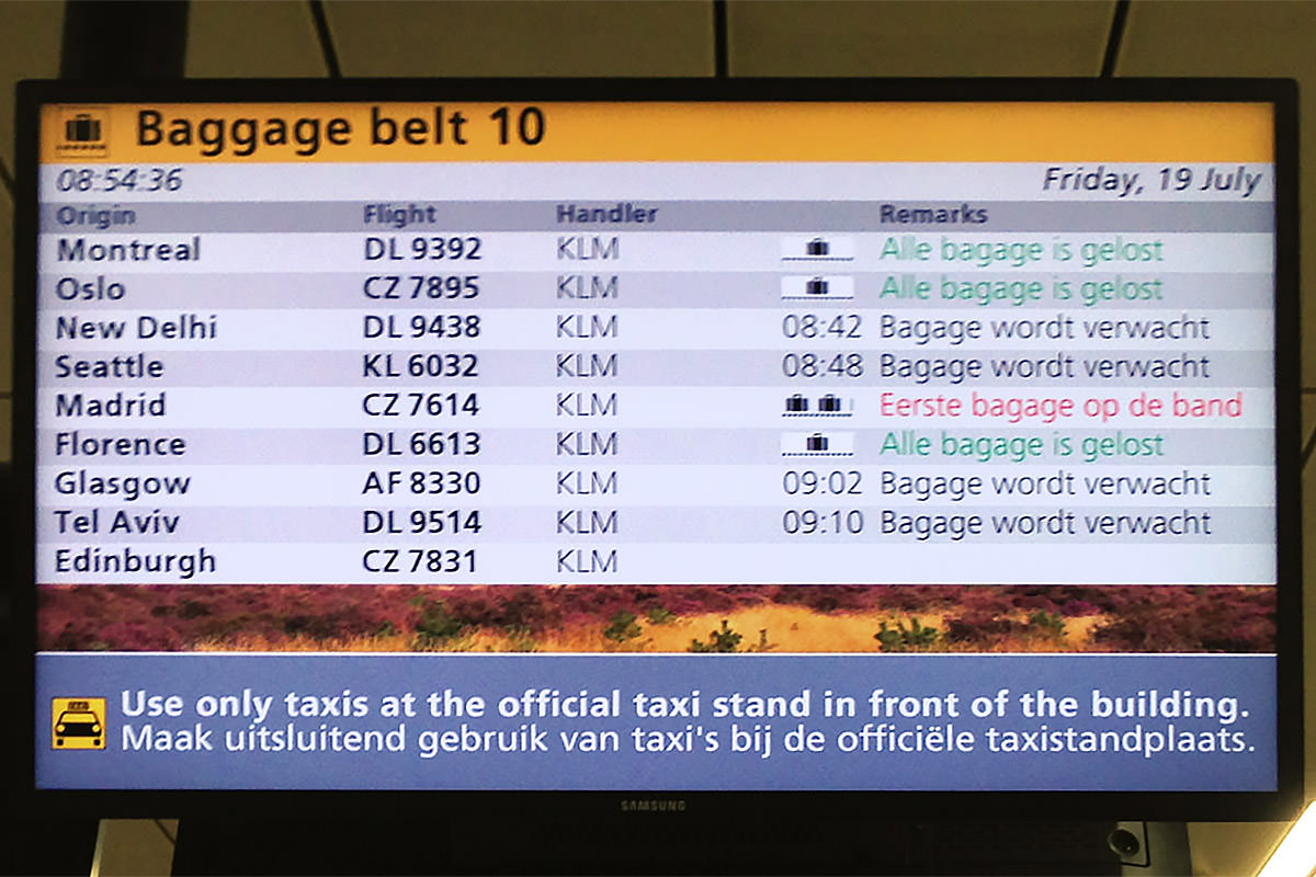 Schiphol Luggage Info