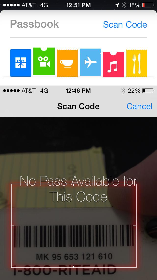 iOS 7 Passbook