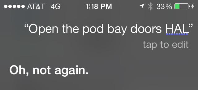 i OS7 Siri is a Man, Baby!
