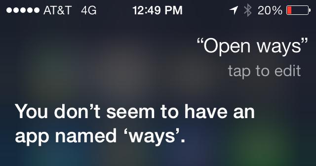 i OS7 Siri Stupid