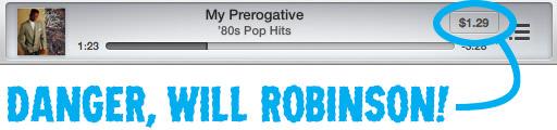 iTunes Radio Purchase Button
