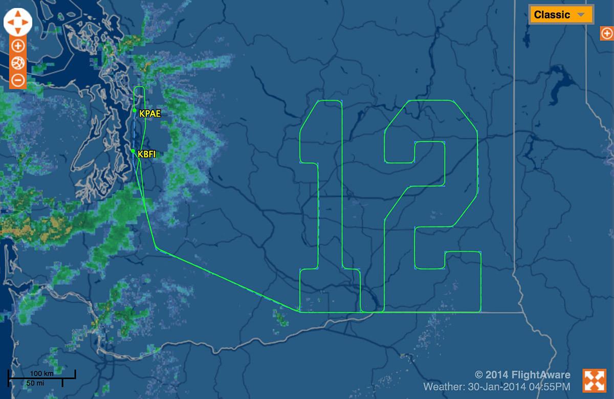 Boeing Twelfth Man Plane Ride
