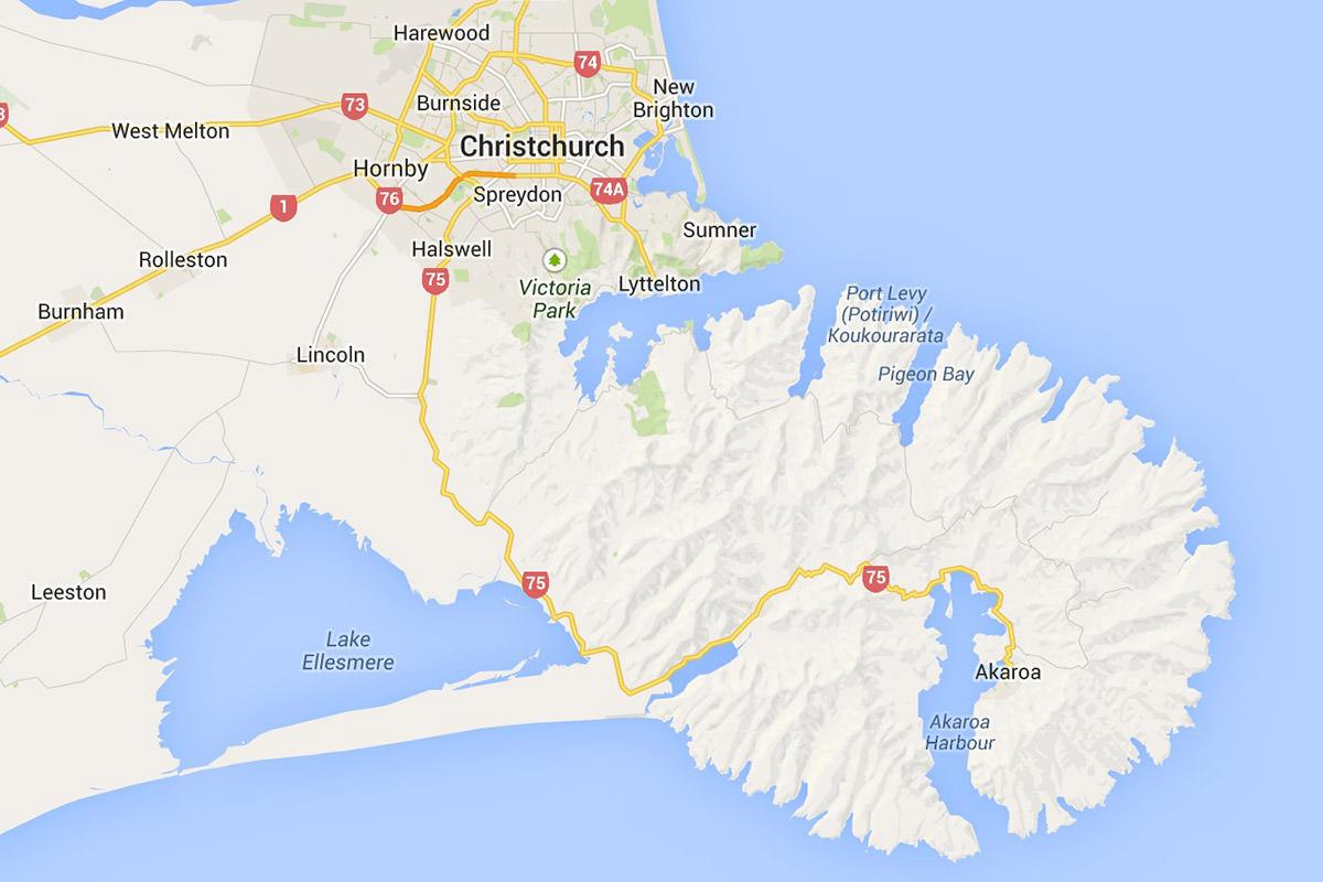 Google Map Christchurch