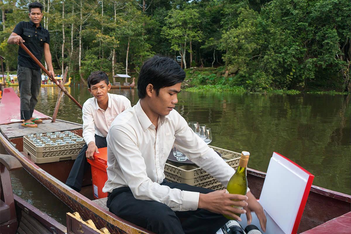 Angkor Gondola Ride Bar Boat