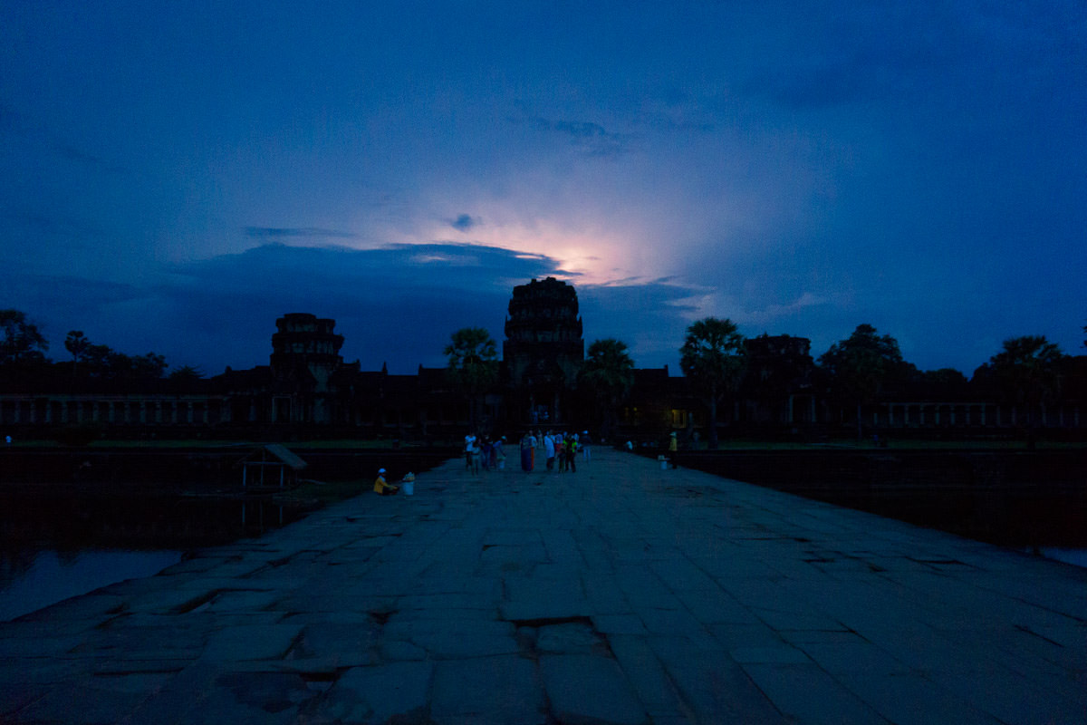 Angkor Wat Lightning