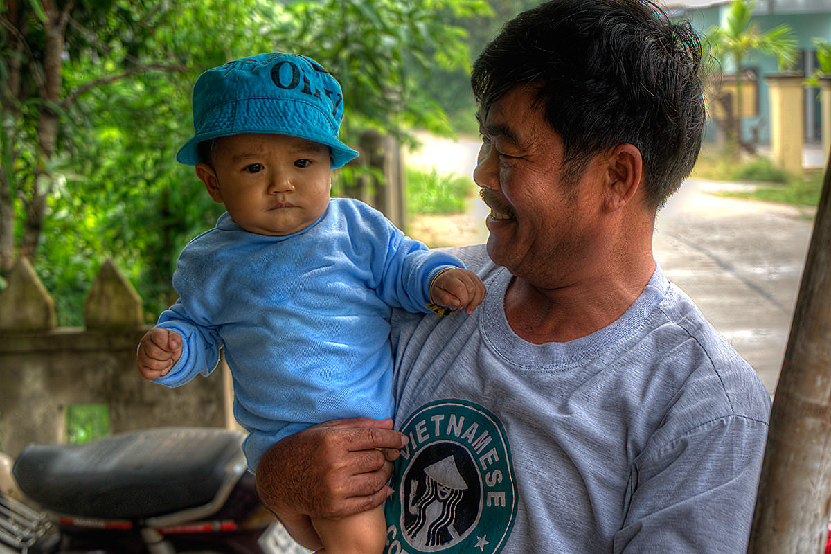 Father and Son in Vietnam