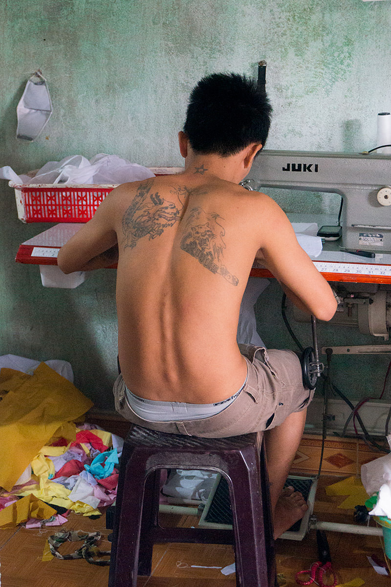 Young Vietnamese Sewing Worker