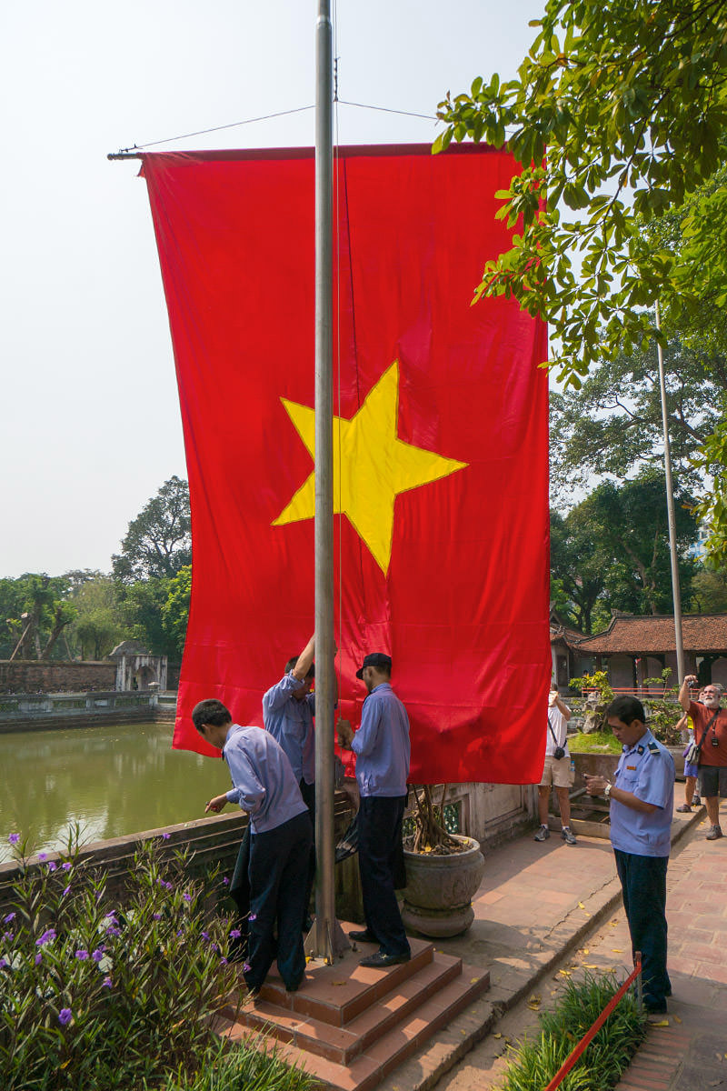 General Giap Flag Ceremony