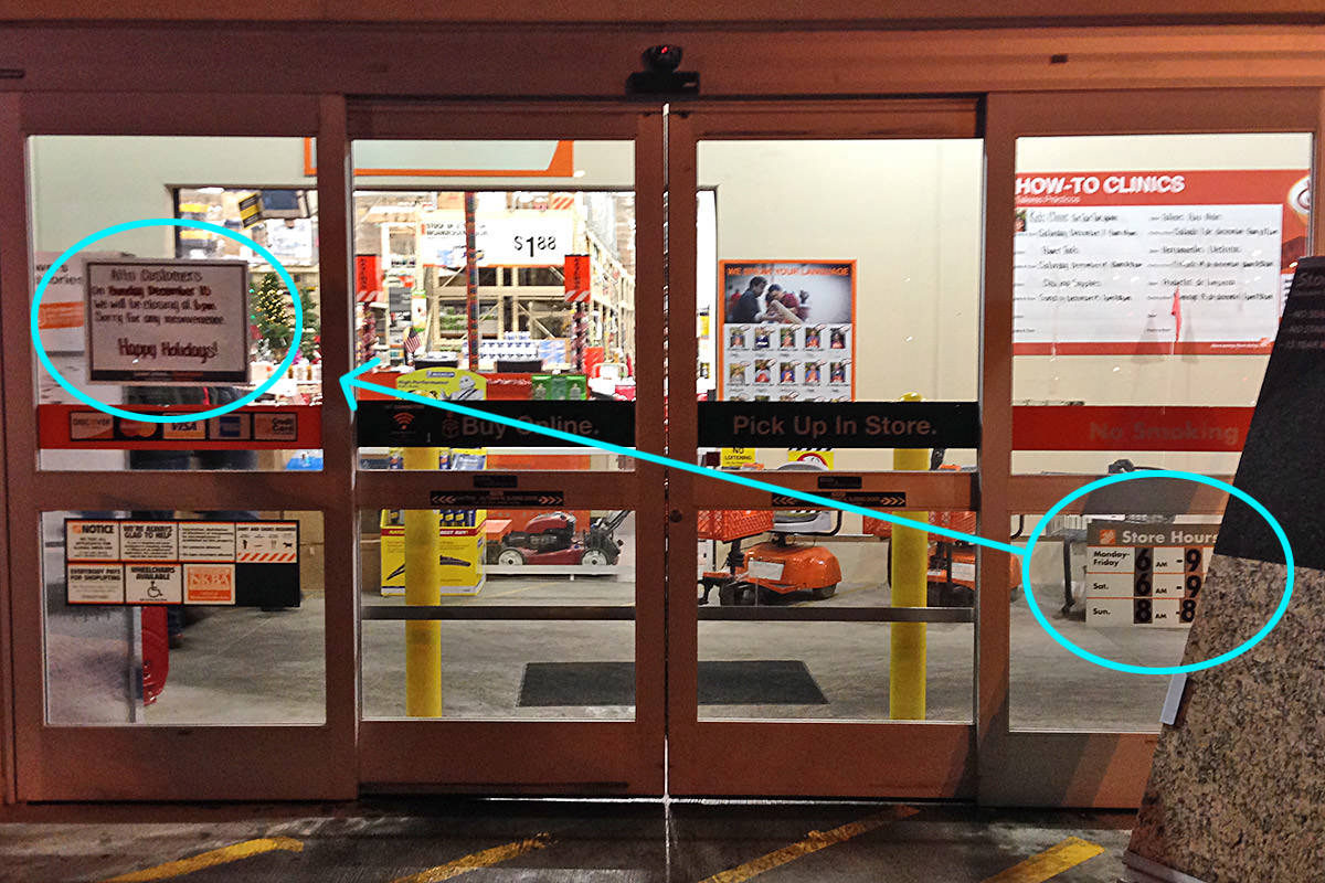 Home DepotClosed Trickery