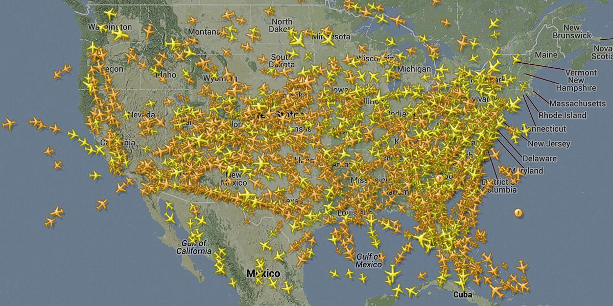 Flight Radar World Map