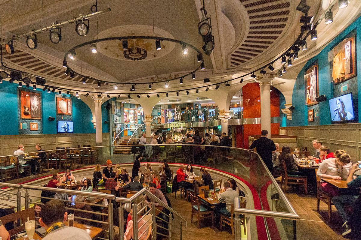 Hard Rock Cafe Glasgow Interior