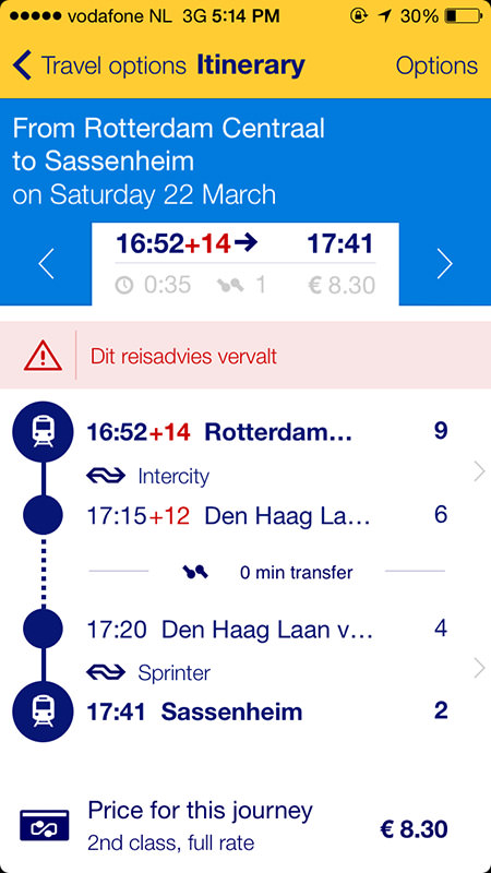 Rotterdam Schedule