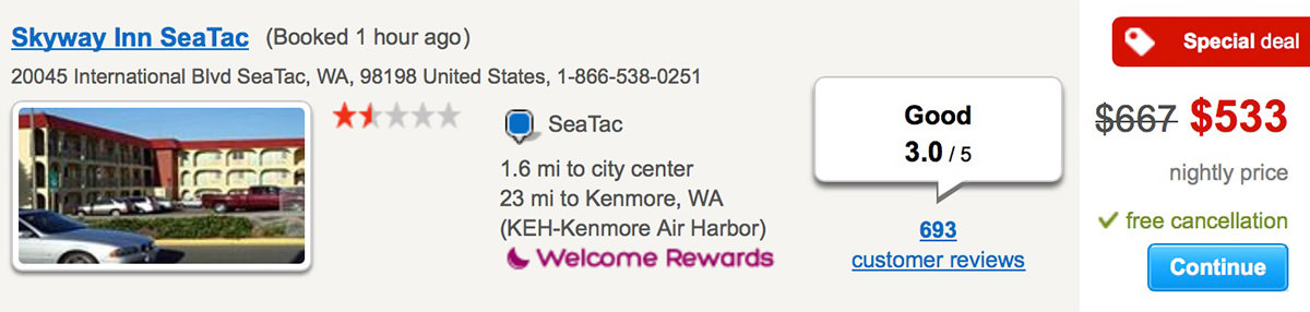 Seatac Hotels With Extended Parking