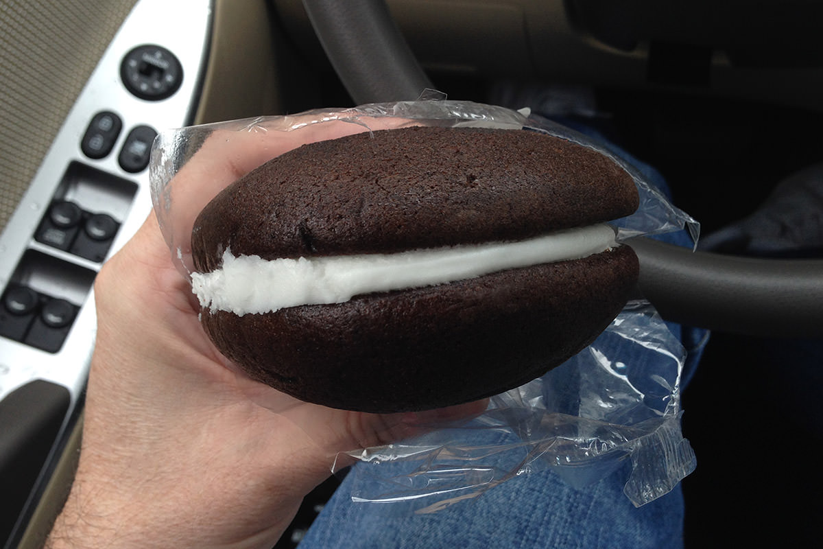 Eating a Whoopie Pie in Maine
