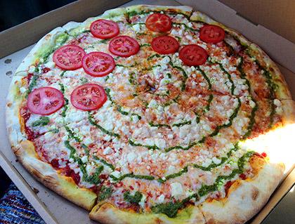 Road Pizza from Famous Ed's Spokane... David's DaVinci Pizza