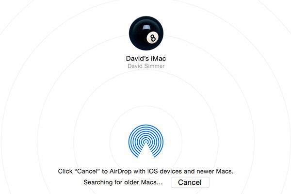 AirDrop Old Mac Mode