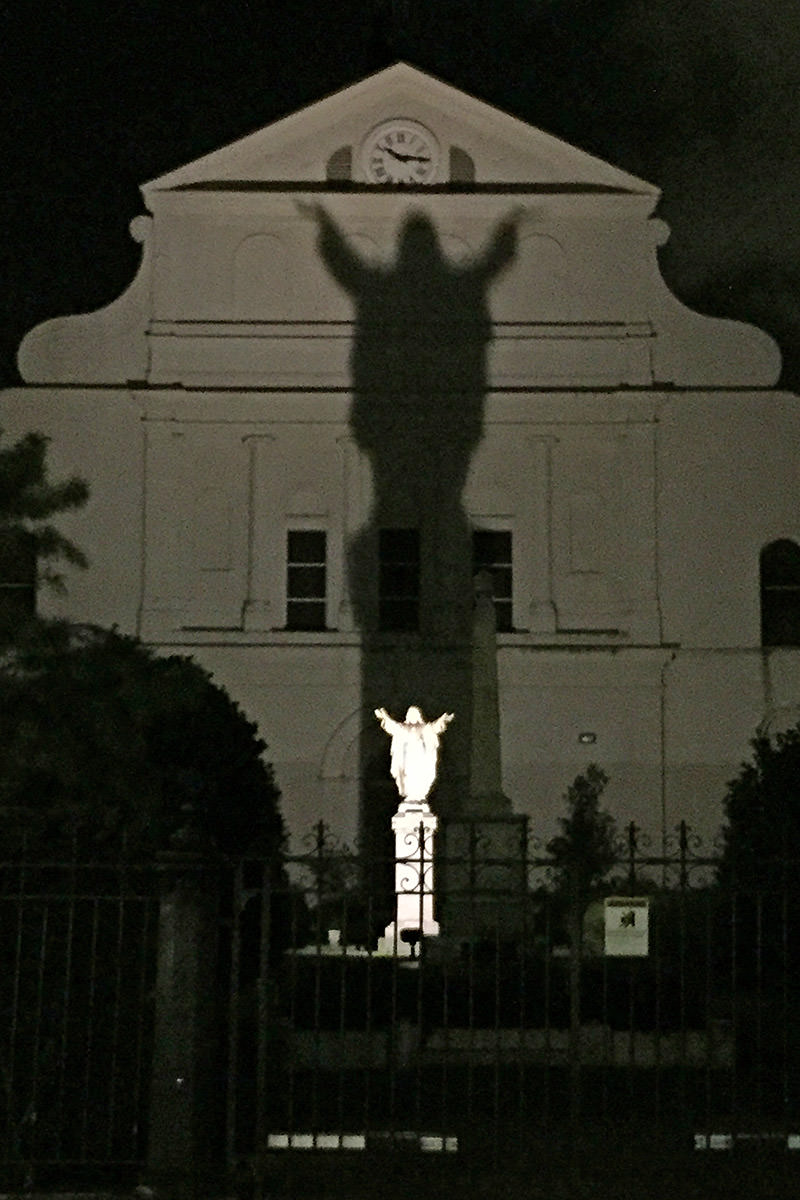 Church Jesus Shadow.
