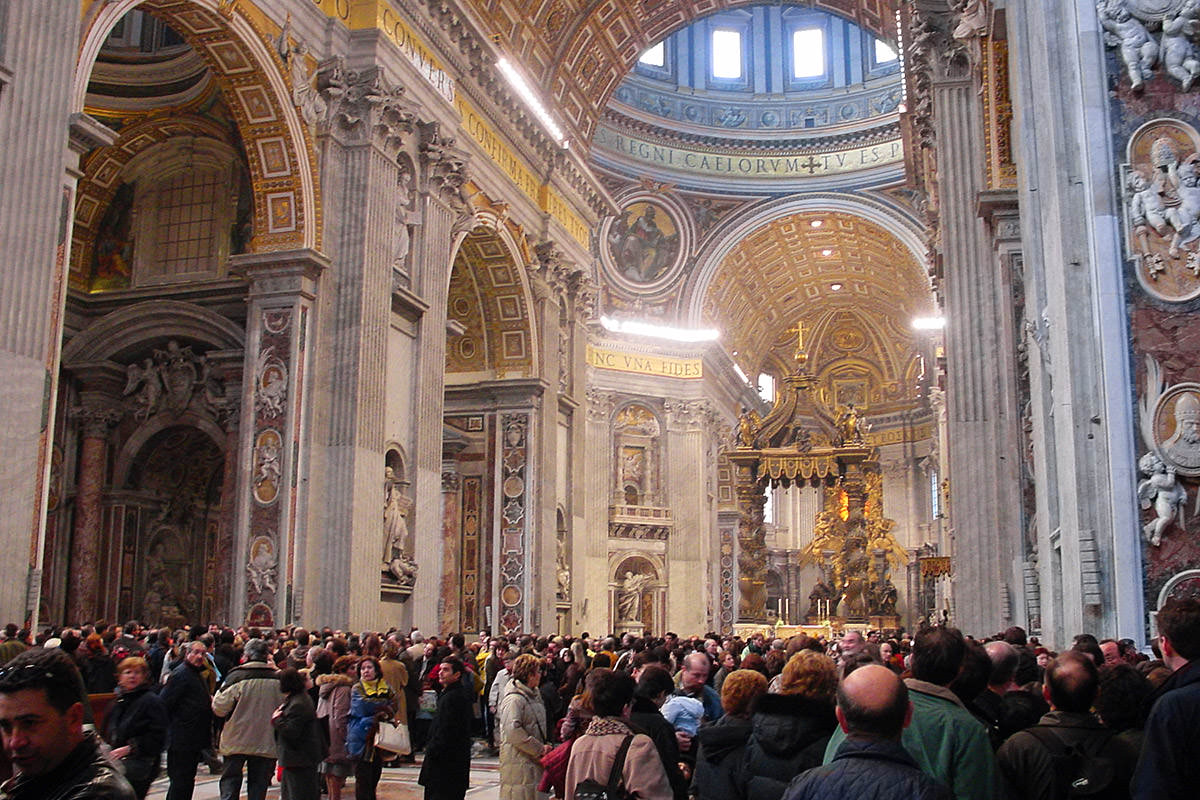 St. Peter's Basilica in Vatican City in Rome