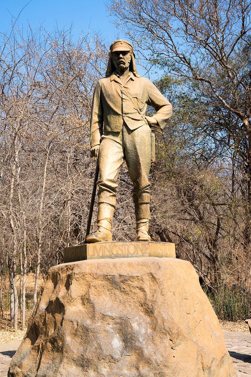 Victoria Falls Livingstone Statue